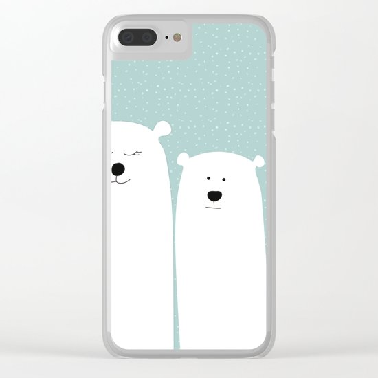 Polar people Clear iPhone Case