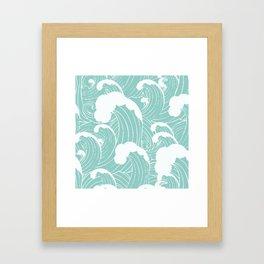 Refreshing waves Framed Art Print