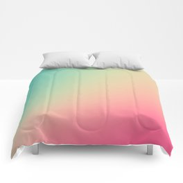 Gradient Colours: Turquoise Pink Pastel Comforters
