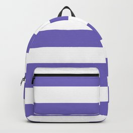Blue-violet (Crayola) - solid color - white stripes pattern Backpack