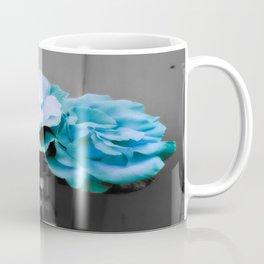 fLoWers Aqua Blue Pop of Color Coffee Mug