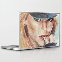 emma stone Laptop & iPad Skins featuring Emma Stone, blonde by xDontStopMeNow