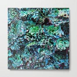 Turquoise Garden of Glass Metal Print