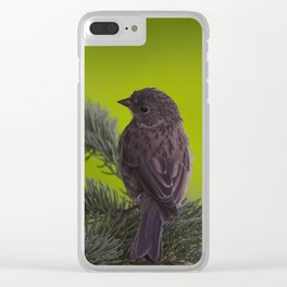 Feathered Friend Clear iPhone Case