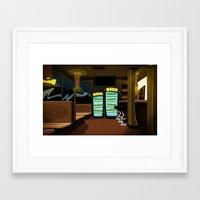bar Framed Art Prints featuring Bar by ihasb33r