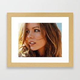 Hollywood - Kate Beckinsale Framed Art Print