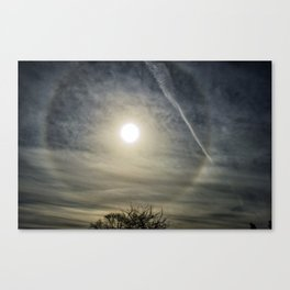 Eye in the sky halo Canvas Print