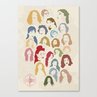 arab Canvas Prints featuring Arab Divas by QatatoPRINTS