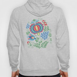 Moravian Folk Design Grapes Hoody