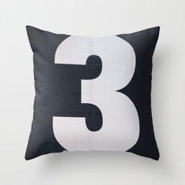 3! Throw Pillow