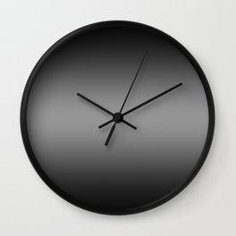 Black to Gray Horizontal Bilinear Gradient Wall Clock