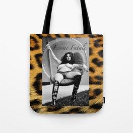 Vintage Pin Up - Stone Hard Femme Leopard Tote Bag