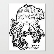 Lybee Black & White Canvas Print