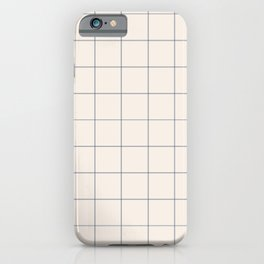 windowpane plaid iPhone Case