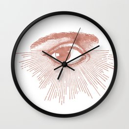 I see you. Rose Gold Pink Quartz on White Wall Clock