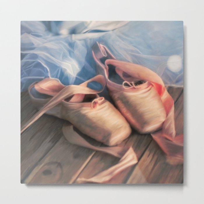 Painting ballet shoes and jersey Metal Print
