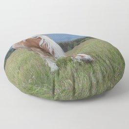 Blonde Beauty Floor Pillow