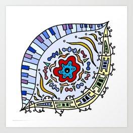 Pop Eye (Red) Art Print