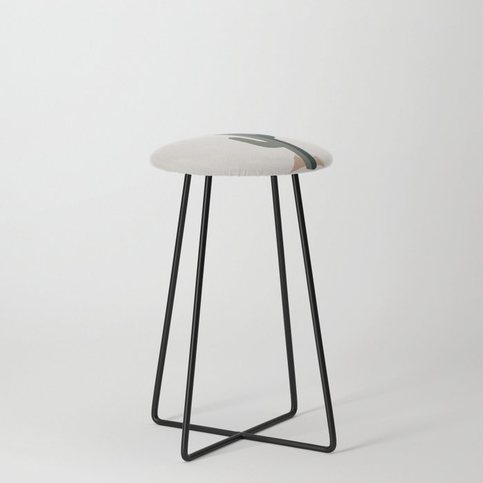 Cactus and the Rising Sun Counter Stool