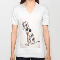 best friend V-neck T-shirts featuring Best Friend by Amanda Vieira