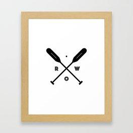 Rowing x Oars Framed Art Print