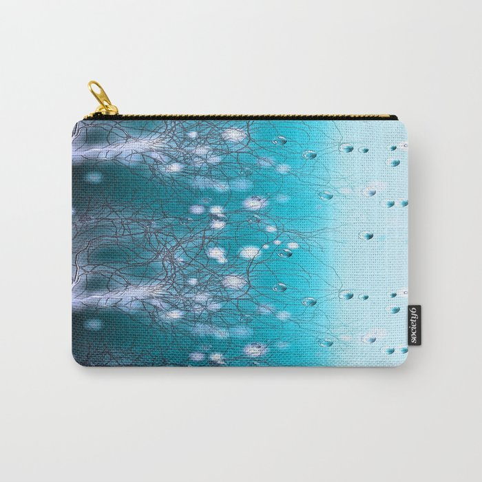 Bubble Tree (blue) Carry-All Pouch