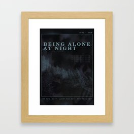 Poster design: Night Framed Art Print