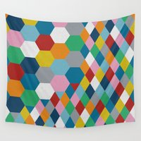 honeycomb Wall Tapestries featuring Honeycomb by Project M