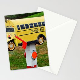 School Bus Mailbox Stationery Cards