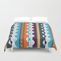 native Duvet Covers featuring native by Wooden Wolves