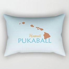 Hawaii Pukaball Rectangular Pillow