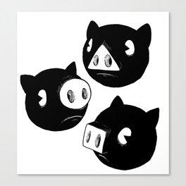 Three little piggies Canvas Print