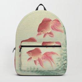 Goldfish Vintage Japanese Woodblock Print Backpack