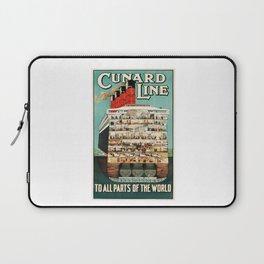 Vintage Cruise Travel Poster Laptop Sleeve