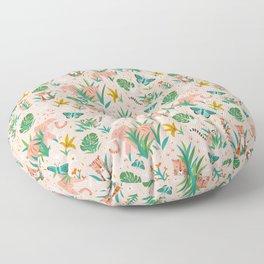 Endangered Wilderness - Blush Pink Floor Pillow
