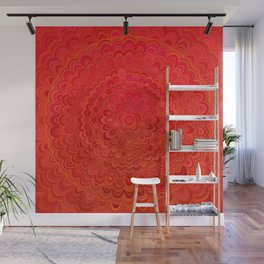 Fire Flower Mandala Wall Mural