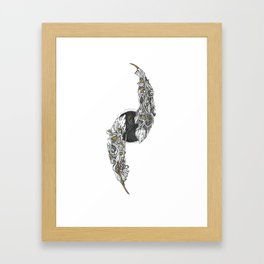 Dual Feather Framed Art Print