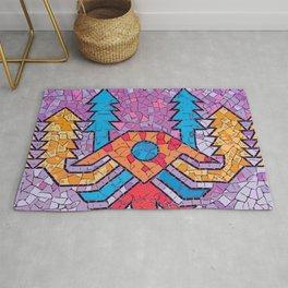 Colourful mosaic UFO Terrazzo Blobs Rug