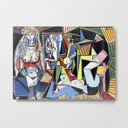 Pablo Picasso - Les Femmes d'Alger (Women of Algiers) 1955 Artwork Metal Print