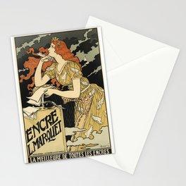 Belle Epoque vintage poster, Encre Stationery Cards