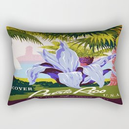 Vintage poster - Puerto Rico Rectangular Pillow