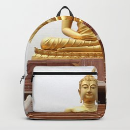 Golden Gautama Buddha Big Buddha Image Khueang Nai District Ubon Ratchathani Thailand Ultra HD Backpack