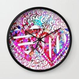 Colliding Hearts Wall Clock