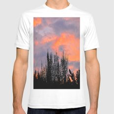 Sunset Silhouettes MEDIUM Mens Fitted Tee White