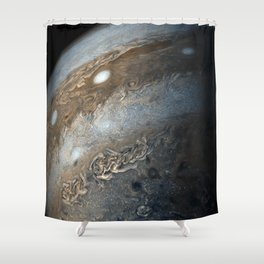 Storms on Jupiter from Juno Cam (2017) Shower Curtain