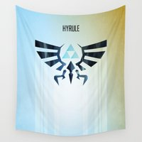 hyrule Wall Tapestries featuring The Legend of Zelda - Hyrule Rising Poster by Barrett Biggers