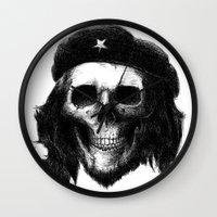 che Wall Clocks featuring Che Guevara by Motohiro NEZU
