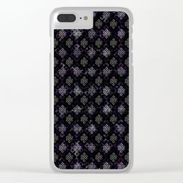 Endless Knot pattern - Silver and Amethyst Clear iPhone Case