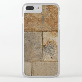 Texture natural stone masonry and paving Clear iPhone Case