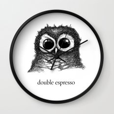double espresso Wall Clock